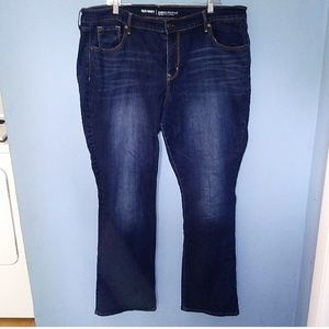 Old Navy Curvy Mid-Rise Plus Size Jeans 18 Bootcut